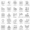 Icons corporate governance, business training. Royalty Free Stock Photo