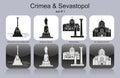Icons of Crimea & Sevastopol Royalty Free Stock Photo
