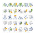 ICONS - DB and users Stock Images
