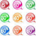 Icons discount stock image a set of with discounts Royalty Free Stock Photo