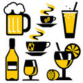 Icons drink Royalty Free Stock Photos
