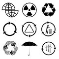 Icons of ecology vector set Royalty Free Stock Photography