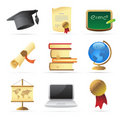 Icons for education Stock Photo