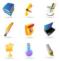 Icons for education Royalty Free Stock Image