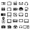 Icons electronic devices set interface mobile applications Royalty Free Stock Photography