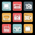 Icons electronic devices set interface mobile applications Stock Photos