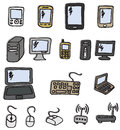 Icons - Electronics Stock Photography