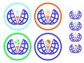 Icons environmental protection and recycling, symbol yin yang Royalty Free Stock Photo
