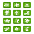 Icons family travel and sport Stock Photography