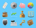 Icons for finance money and security vector illustration Royalty Free Stock Images