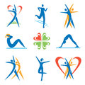 Icons fitness healthy lifestyle activities vector illustration Stock Image