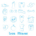 Icons fitness over white background vector illustration Stock Images
