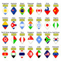 Icons of flags. Stock Images