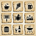 Icons food Royalty Free Stock Images