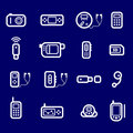 Icons gadgets Royalty Free Stock Photos