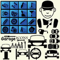 Icons for garage patr black the Stock Image