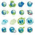 Icons globe Royalty Free Stock Photography
