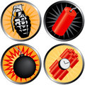 Icons that go Boom Royalty Free Stock Photo