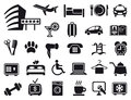 Icons on a hotel theme icon of service Royalty Free Stock Photography