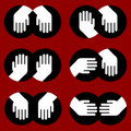 Icons of human hands of various gestures Royalty Free Stock Photography