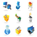 Icons for industry Stock Images