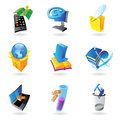 Icons for industry and ecology Stock Images