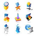 Icons for industry and ecology Stock Photos