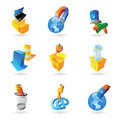 Icons for industry and ecology vector illustration Royalty Free Stock Photos
