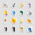 Icons for industry and technology Royalty Free Stock Images