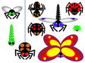 Icons insect Royalty Free Stock Photography