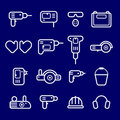 Icons instrument, toolware Royalty Free Stock Image