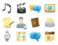 Icons for interface computer and website vector illustration Royalty Free Stock Photos