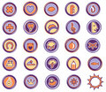 Icons leasure Royalty Free Stock Photo