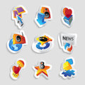 Icons for leisure Stock Photos