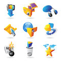 Icons for leisure Royalty Free Stock Photography