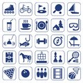Icons, leisure, entertainment, leisure, Hobbies, monochrome, flat. Royalty Free Stock Photo