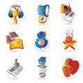 Icons for leisure travel sport and arts vector illustration Stock Images