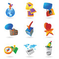 Icons for leisure travel sport and arts vector illustration Royalty Free Stock Photo
