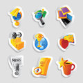 Icons for leisure travel sport and arts vector illustration Royalty Free Stock Image