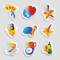 Icons for leisure travel sport and arts vector illustration Royalty Free Stock Photography