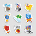 Icons for leisure travel sport and arts vector illustration Royalty Free Stock Images