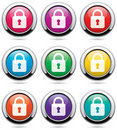 Icons with locks Royalty Free Stock Images