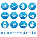 Icons of luxury life Stock Images