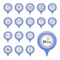 Icons on the map arrow vector illustration Royalty Free Stock Photography