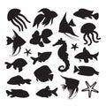 Icons marine life Royalty Free Stock Photo