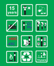 Icons Measuring device for oil pipeline on green background