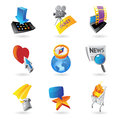 Icons for media information and entertainment vector illustration Stock Image