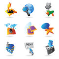 Icons for media information and entertainment vector illustration Stock Photo