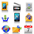 Icons for mobile phone illustration of a on a white background Royalty Free Stock Photo