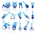 Icons of musical instruments Royalty Free Stock Image